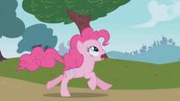 Pinkie Pie trying to warn Rainbow Dash S1E05