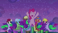 Pinkie and her firework-loaded cannons S9E17