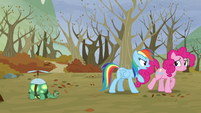 Pinkie walks away from Rainbow S5E5