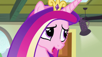 """Princess Cadance """"covered in mashed peas by now"""" S7E3"""