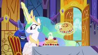 Princess Celestia watching Luna leave S7E10