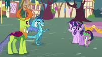 Princess Ember puzzled by pony friendship S7E15