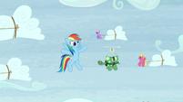 "Rainbow ""for our extreme sledding!"" S5E5"