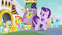 Starlight, Spike, and ponies back to normal S9E2