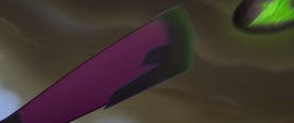 Tempest kicks an obsidian sphere at Luna MLPTM