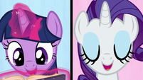 """Twilight and Rarity """"we're a work in progress"""" S7E14"""