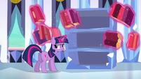 Twilight putting the books back S3E2