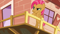 Babs Seed listening to Scootaloo shout at her S3E04
