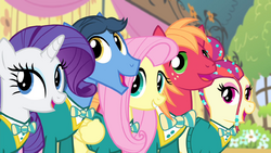Fluttershy and Ponytones -got the music- 2 S4E14.png