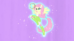 Fluttershy hovering with tambourine EG2.png