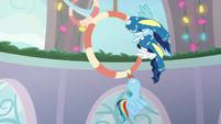Rainbow Dash slowing her flight BGES1