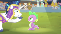 Shining Armor -they only play the anthem for the winner- S4E24