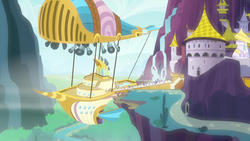 Zeppelin at the Canterlot air docks S7E22.png