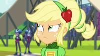 Applejack glaring at Sugarcoat EG3