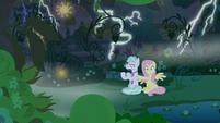 Fluttershy and Flatterfly hear lightning S9E17