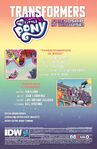 My Little Pony Transformers issue 1 credits page