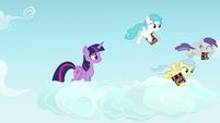Pegasus fillies following Rainbow Dash S7E14