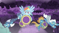 RD and Wonderbolts collect storm clouds S9E17