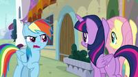 "Rainbow Dash ""they were kinda on edge"" S9E24"