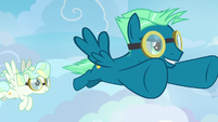 Sky Stinger flying confidently through the sky S6E24