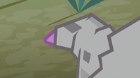 Spike's tail gets encased in stone S8E11