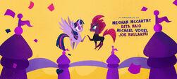 Twilight and Fizzlepop hoof-bump MLPTM