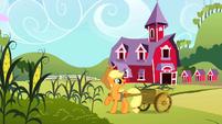 Applejack harvesting corn S2E01