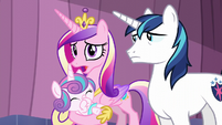 Cadance talks about the Crystal Empire library S6E2