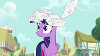 Journal pages falling on Twilight's head S7E14