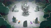 Pillars of Equestria casting their banishment spell S7E25