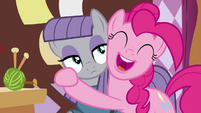 Pinkie Pie hugging Maud S4E18