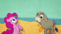 Pinkie and Cranky in a giant bowl of baby food BFHHS2