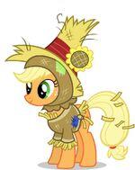 Promotional Facebook Halloween 2011 Applejack scarecrow