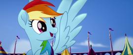 Rainbow Dash thirsty for apple cider MLPTM