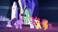 Scootaloo looking embarrassed S8E6