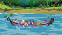 The Young Six's canoe stuck in place S8E9