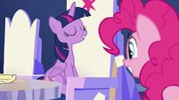 Twilight makes Pinkie an unofficial ambassador S7E11