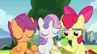 Cutie Mark Crusaders with tasty snacks S8E12