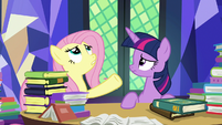 """Fluttershy """"every book in the entire library"""" S7E20"""