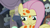 Fluttershy pondering on Cattail's words S7E20