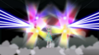 Holo-Fluttershy on a brightly lit stage CYOE2c