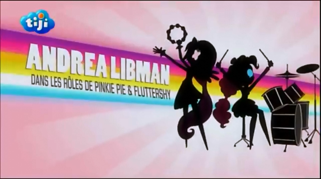 My Little Pony Equestria Girls Rainbow Rocks 'Andrea Libman as Pinkie Pie & Fluttershy' Credit - French.png