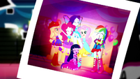 Photo of the Mane Six laughing together SS2