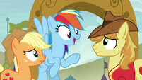 Rainbow --we bucked the hooves right off of you!-- S6E18