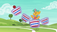 Snails effortlessly catches Fluttershy's ball S6E18