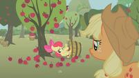 Apple Bloom embarrassed in bucket S1E12