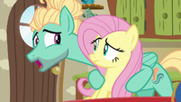 Fluttershy and Zephyr Breeze, brother and sister S6E11