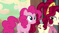 Pinkie and Cherry walk together S5E11