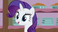 Rarity gasps with delight S7E6
