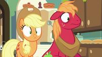 Applejack and Big Mac look shocked S9E10